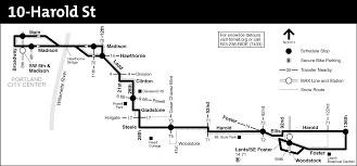 Portland Bus Map by 10 Harold St