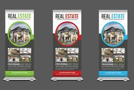 Banner Design Ideas Real Estate Roll Up Banners Template Templates Creative Market