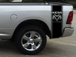 Dodge Ram 1500 Used Truck Bed - 2 hemi 5 7 liter ram stripe dodge ram truck vinyl decal sticker1