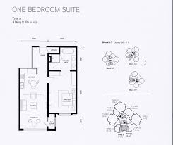 andaman at quayside penang penang hot prop type a layout plan one bedroom suite 914sf
