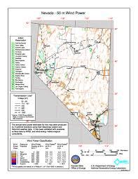 printable map of nevada free nevada wind energy maps