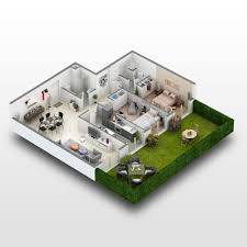 3d Floor Plan by 3d Floor Plan And House Plans Gallery Bo Visuals
