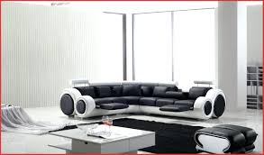 canapé design noir et blanc stunning salon design blanc contemporary awesome interior home avec