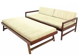 twin size mid century modern daybed with pop up trundle of mid