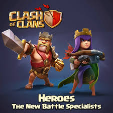 wallpaper coc keren for android barbarian king and archer queen clash of clans heroes hd wallpaper