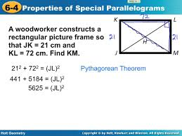 geometry lesson 6 4 rectangle rhombus square youtube