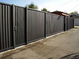 Front Yard Metal Fences - metal fencing panels frontyard ideas metal fencing panels