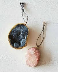 Semi Ornaments Agate Pendant Ornaments Agate Martha Stewart And Ornament