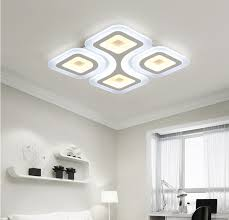 Led Bedroom Ceiling Lights Modern Square Led Ceiling Light Acrylic Living Room Bedroom