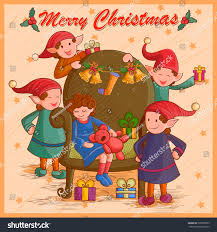 vector design kid gift festival merry stock vector 533598505