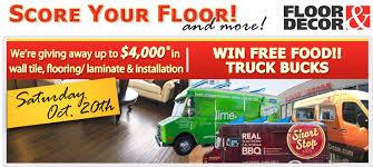 your floor and decor giveaway floor food truck bucks this saturday 10 20