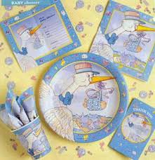 baby shower autograph plate baby shower party supplies solid color tableware special