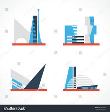 buildings futuristic design real estate concept stock vector
