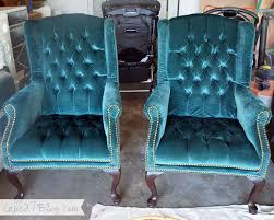 Velvet Wingback Chair Design Ideas Craigslist Find Teal Wingback Chairs Velvet Color Stains