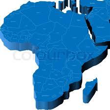 3d africa map vector 3d map of africa stock vector colourbox