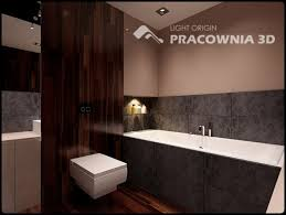brown bathroom themes small apartment design by pracownia 3d image