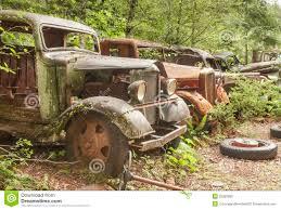 Opal Creek Oregon Map Old Abandoned Cars At Opal Creek Mining Town Stock Photo Image