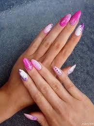 bachelorette party stiletto nails with glitter and diamond nail