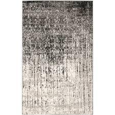 Modern Abstract Rugs Safavieh Retro Black Grey 8 Ft X 10 Ft Area Rug Ret2770 9079 8