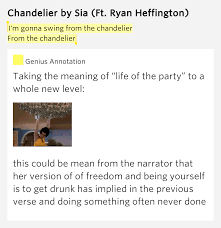 Sia Chandelier Text Chandelier Lyrics Meaning 28 Images I M Gonna Swing From The