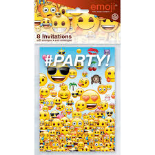 emoji invitations 8ct walmart com