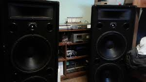 pro audio speakers for home theater messing around with pro audio speakers on 5 watts youtube