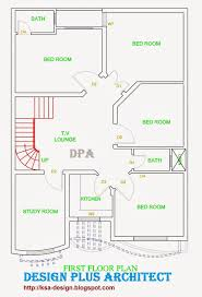 1 kanal house drawing floor plans layout with basement in dha 2