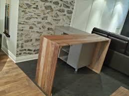 fabriquer une table bar de cuisine comptoir bar en bois de grange conception et fabrication rustik