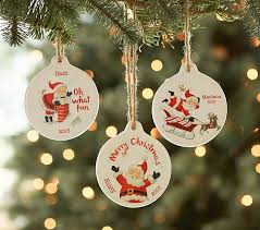 christmas sentiment personalized ornaments pottery barn kids