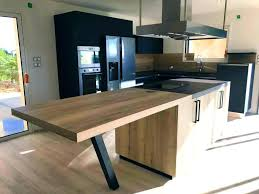 table bois cuisine ilot central bois ilot central bois cuisine en fenix noir avec ilot