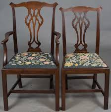 Chippendale Dining Room Furniture Set Of Chippendale Dining Room Chairs