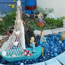best gardening ideas mermaid and beach themed fairy garden 22