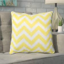 yellow and gold throw pillows you ll wayfair