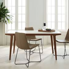 Elm Dining Table Modern Expandable Dining Table West Elm