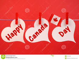 happy canada day message greeting with the canadian maple leaf