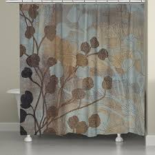 Spa Shower Curtain Spa Blue And Gold Shower Curtain Laural Home