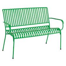 indu green metal garden bench buy now at habitat uk garden