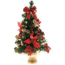 werchristmas 2 ft pre lit decorated tree table dec