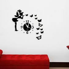 modern style fashion diy butterfly fairy wall stickers mirror