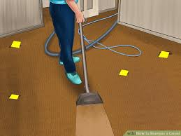 how to vacuum carpet how to shoo a carpet 13 steps with pictures wikihow