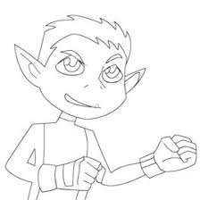 beast boy coloring kids drawing coloring pages marisa