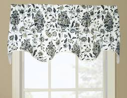 Gray Valance Scalloped Valances Patterned Solid Colored Double
