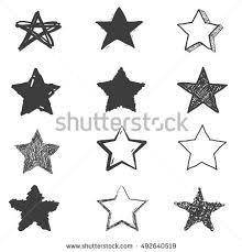 set cute hand drawn star doodle stock vector 492640519 shutterstock