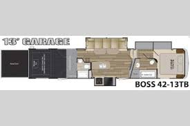 Toy Hauler Floor Plans Cruiser Boss Fifth Wheel Toy Hauler Two Great Floorplans