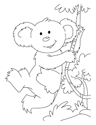 swinging koala coloring pages download free swinging koala