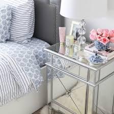 bella mirrored nightstand pewter online interior design nousdecor
