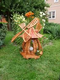 american windmill lawn ornament cedar wood handcrafted outdoor