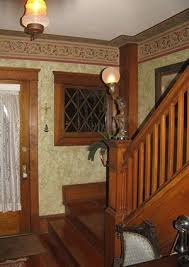 craftsman homes interiors entrance with faux finish interiors