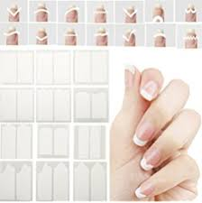 3 x pack of 48 nail art french manicure tip guides stickers j