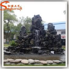 artificial stone big rock outdoor garden fountain graphic
